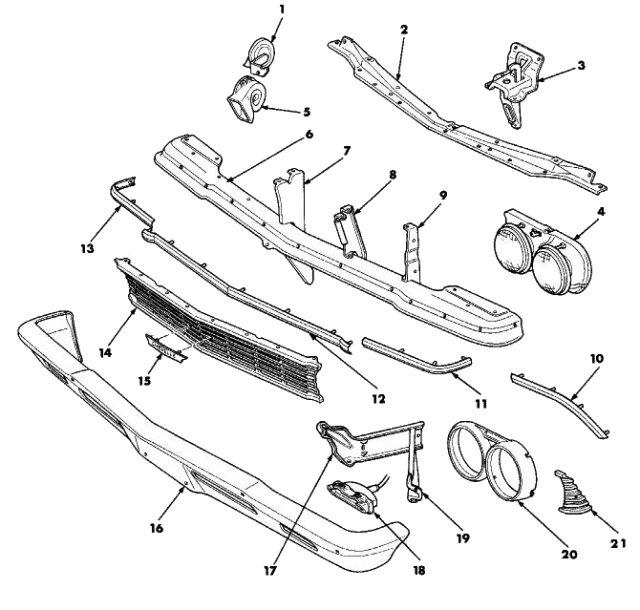 el camino front suspension parts
