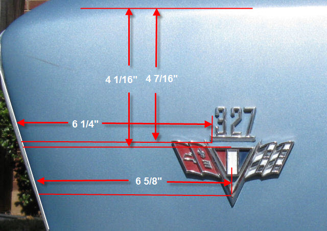 Emblem Placement 1967 Chevelle Reference Cd