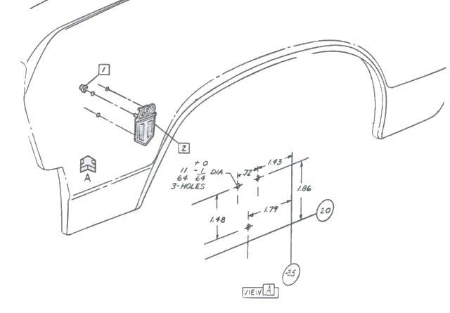 1965 mustang quarter panel diagram