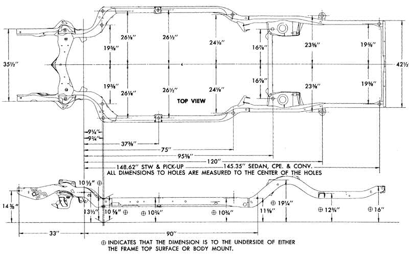 Axle Diff Cover Id Chart besides Frame Dimensions likewise Rearview A also Frame Dimensions likewise Truckbed Lg. on 1965 chevy c10 dimensions