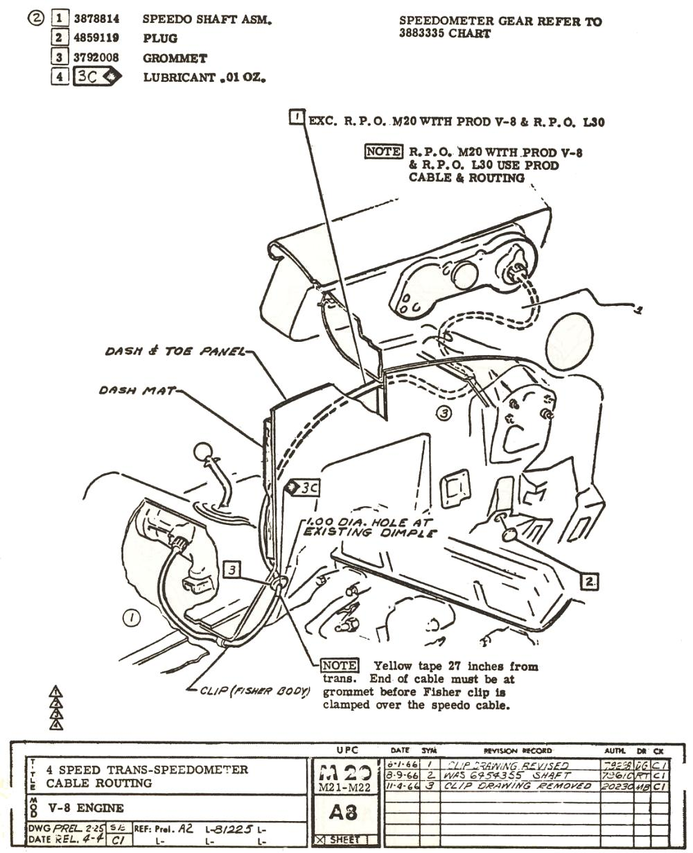 70 Chevelle Ss Wiring Diagram Simple Guide About 1967 Muncie Speedometer Cable Length And Routing 1970 Cowl Induction