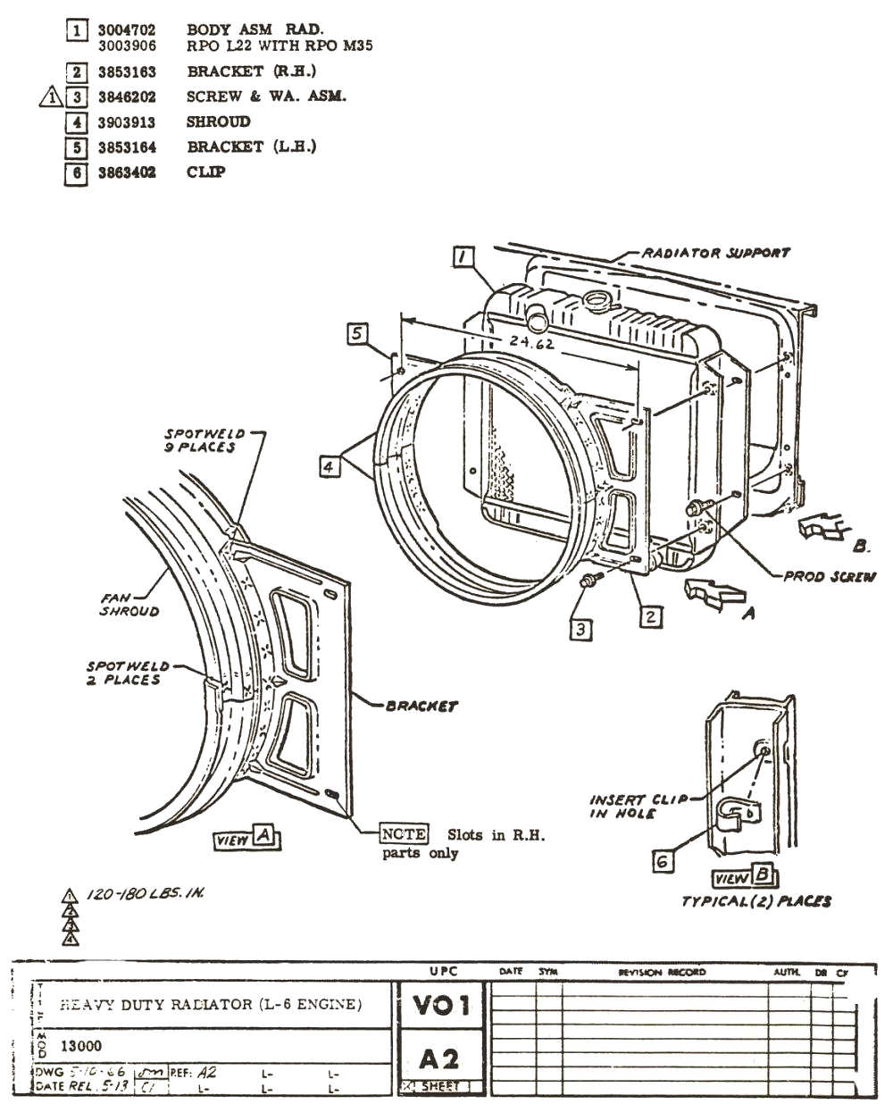 1967 Chevelle Factory Assembly Instruction Manual L6 Engine Diagram Previous Next